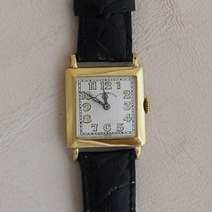 Vintage Tiffany & Co platinum diamond wrist watch, circa This Swiss ladies wrist watch has diamonds at carat total weight, with crocodile. Antique Watches, Vintage Watches, Wrist Watches, Square Watch, Crocodile, Tiffany, Diamonds, Amp, Antiques