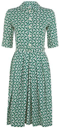 People Tree - People Tree Orla Kiely Birdwatch Shirt Dress - Fair Trade £53.97