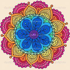Resultado de imagen de simple mandala henna style