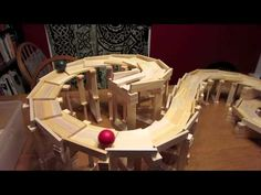 Fun with Contraptions Wooden Cubes, Wooden Blocks, Engineering Projects, Fun Projects, Wood Architecture, Construction, Poker Table, Diy For Kids, Plank