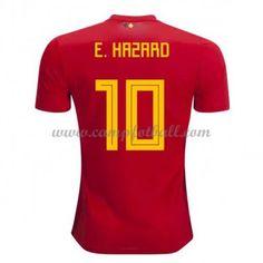 Billige Fotballdrakter Belgia VM 2018 Eden Hazard 10 Hjemme Draktsett