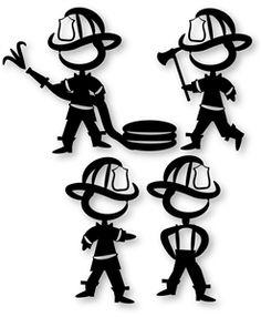 Silhouette Design Store - View Design #31029: fireman stick