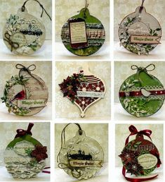 What a great alternative to Christmas cards - a greeting to hang on the tree! Paper Ornaments, Diy Christmas Ornaments, Christmas Projects, Handmade Christmas, Holiday Crafts, Christmas Decorations, Homemade Ornaments, Dough Ornaments, Noel Christmas