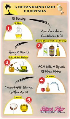 5 detangling hair cocktails