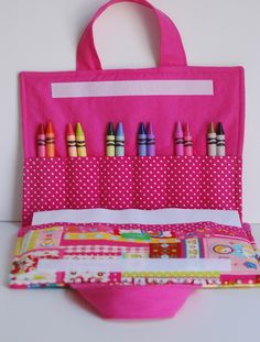 Another idea for crayons for a little girl our make as a book for a boy