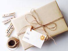 Simple brown wrapping paper