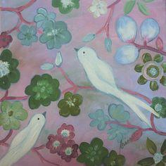 White Doves Painting  - White Doves Fine Art Print