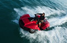 amphibious ATV I'll take Four Wheelers, Its A Mans World, Water Toys, Top Toys, Future Car, Water Crafts, Amphibians, Water Sports, Atv