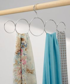 63a677c0fc66 This Classico Five-Loop Steel Scarf Holder by InterDesign is perfect!   zulilyfinds Cintres