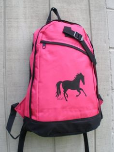 Amazon.com: Hot Pink Lila Galloping Horse Girls Backpack Preschool - 2nd Grade. $22.50