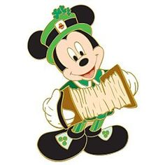Disney St. Patrick's Day Printables   Fantasies Come True > Pins > Mickey Mouse St. Patrick's Day pin