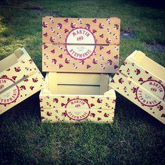 Wedding idea wedding crate shabby chic