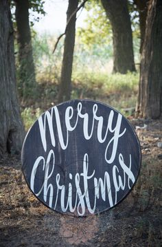 Merry Christmas Sign, Round Christmas Sign, Country Christmas, Rustic Christmas, Christmas Sign, Round Sign by DusinDesigns on Etsy