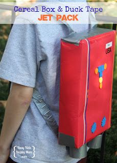 Cereal Box and Duck Tape Jet Pack