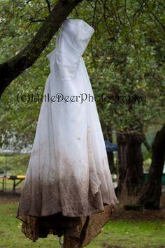 muddy wedding dress