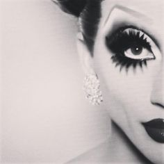 Bianca Del Rio 40 pairs of lashes and a white line. . .its a look . . . and I love it