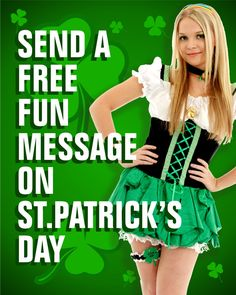 A St. Patrick's Day message on March 17th. Cool FREE message you can send to anybody on St. Patrick's Day - Really simple to use just fill in the names and send! #stpatricksday #makemoreofyourfloor #kleentex