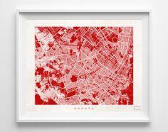 Bogota Street Map Print