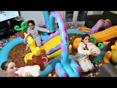 Bad Baby Magic - Orbeez Inflatable Water Slide Pool Party In House - Daddy Freaks Out! - YouTube