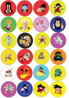 BOTTONS DRAGON BALL Z
