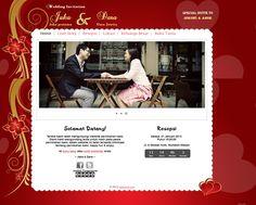 Template undangan pernikahan online tema love more pernikahan online