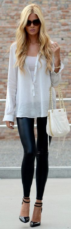 Leather leggings are a must this fall.
