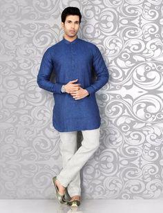 Plain blue festive wear pathani suit Nigerian Men Fashion, Indian Men Fashion, Mens Hottest Fashion, Mens Fashion, Pathani For Men, Pathani Kurta, Mens Kurta Designs, Designer Suits For Men, Royal Blue Color
