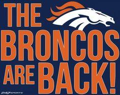 The Broncos are back! Denver Broncos Pictures, Go Broncos, Denver Broncos Football, Broncos Fans, Football Baby, Football Memes, Football Season, Denver Brocos, Denver Broncos Wallpaper