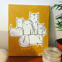 Kitty crew by #peanuts #art #canvas #cats #illustration by navazquezga