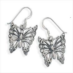 Butterfly Earrings Solid Quality Sterling Silver Fine Jewelry Fashion Jewelry on eBid United States