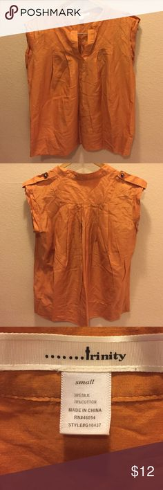 Silk Flowy sheer top Flowy sheer sleeveless top. Made of silk and cotton with buttons on shoulders. In very good condition. Trinity Tops Blouses