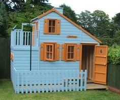 Large Childrens Playhouse With Fireman& Pole Childrens Playhouse, Playhouse Outdoor, Shaped Windows, Nursery Themes, Themed Nursery, Play Houses, Tree Houses, Ground Floor, Cool Places To Visit