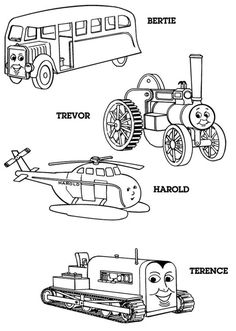 Thomas the Tank Engine Coloring Pages (18) | Coloring Kids