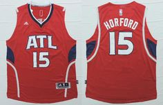 Atlanta Hawks #15 Horford Red Men 2017 New Logo NBA Adidas Jersey
