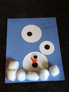 Snowman Craft for Kids. I love the simplicity of this one.