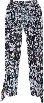 ShopStyle: Mara Hoffman Printed cropped silk-georgette pants