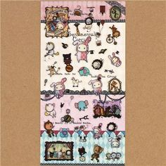 Sentimental Circus sticker set 3pcs bunny & animals