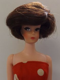 Vintage BARBIE BILD LILLI CLONE UNEEDA WENDY - BRUNETTE BOB, DRESSED - BEAUTIFUL