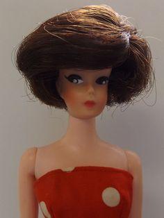 Vintage BARBIE BILD LILLI CLONE UNEEDA WENDY - BRUNETTE BOB, DRESSED - BEAUTIFUL
