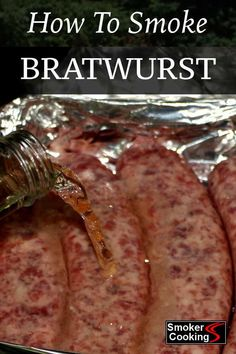 Learn How to Smoke Bratwurst That'll Drip Juice Down Your Arms! - Bratwurst Can Be Smoked In a Variety of Ways, Including Smoking While Soaking In Beer! Traeger Recipes, Smoked Meat Recipes, Sausage Recipes, Grilling Recipes, Seafood Recipes, Beef Recipes, Healthy Recipes, Smoked Pork, Smoked Sausages
