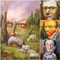 Mind-Blowing Illusion Paintings by Oleg Shuplyak - via Amazing Things in the World's photo on Google+
