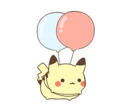 floating pikachu by MinjiXMuu-chan.deviantart.com on @DeviantArt