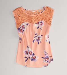 LOVE this AE Floral Lace Blouse