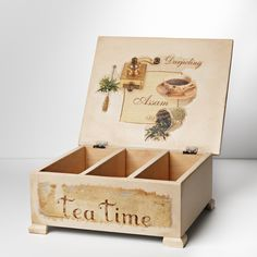 Antique wooden tea box