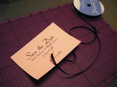 {Wedding Crafting with Cricut} Cut-out Number Save the Dates & Custom Envelopes