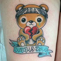 I love this. Teddy Bear Tattoo by Michelle Rubano