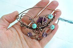Copper Brooch by twistedjewelry.deviantart.com on @deviantART