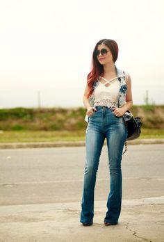 Blog da Lê-Moda e Estílo: Look - Jeans e jeans