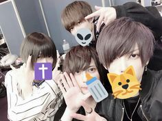 Japanese Boy, Neko, Mickey Mouse, Disney Characters, Fictional Characters, Palette, Boys, Group, Twitter