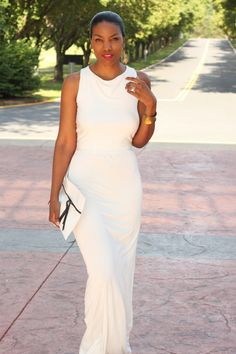 DIY Plunging Back Maxi Dress-Beaute' J'adore
